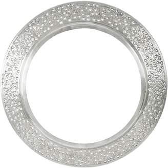 Casa Uno Kashmiri Cutwork Round Mirror Frame