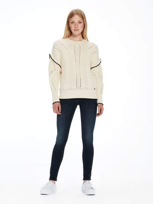 Scotch & Soda Ruffle Cable Knit Sweater