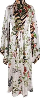 Adriana Iglesias Anna Silk Satin Reversible Robe
