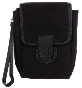 Yigal Azrouel Leather-Trimmed Pouch