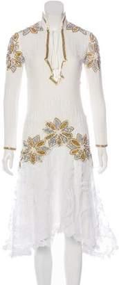 Rodarte Embellished Silk-Blend Dress