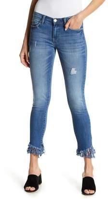 Blank NYC BLANKNYC Denim Slant Fringe Hem Skinny Jeans
