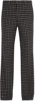 Givenchy Checked wool-blend trousers
