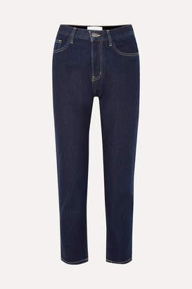 Current/Elliott The Vintage Crop High-rise Slim-leg Jeans