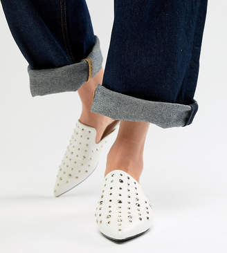 London Rebel Pointed Stud Mules