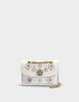Coach Parker Shoulder Bag in Chalk Calfskin