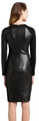 Cynthia Steffe Long-Sleeve Faux Leather Dress