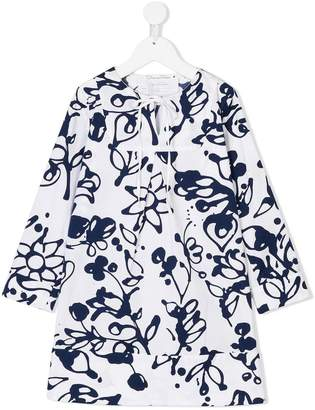 Oscar de la Renta Kids Scribbles print dress