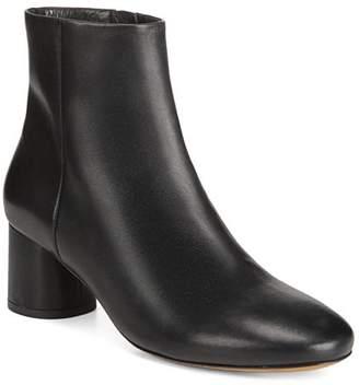 Vince Women's Tillie Round-Toe Mid-Heel Leather Booties