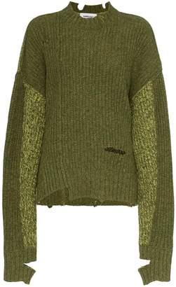 Ambush distressed wool ribbed jumper