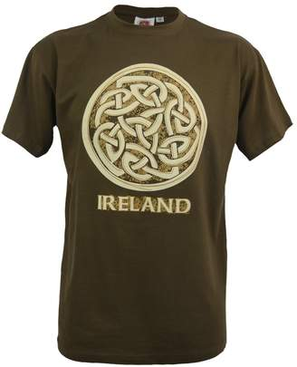 Celtic Traditional Craft Ltd Khaki Ireland Knot R/N T-Shirt