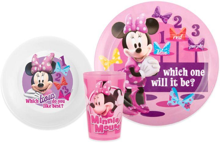 Zak! Designs® Disney® Minnie Mouse 3-Piece Kids Dinnerware Set