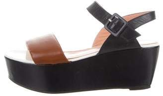 Robert Clergerie Colorblock Wedge Sandals