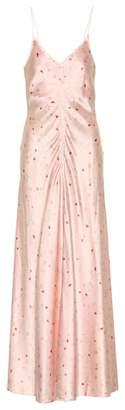 Ganni Floral silk slip dress