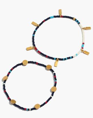 Madewell Two-Pack Beaded Bracelets