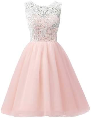 CaliaDress Women Short Bridesmaid Homecoming Flower Girl Dress C016WD 4Y