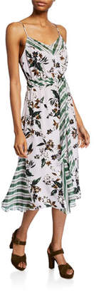 Diane von Furstenberg Frieda Sleeveless Mixed-Print Dress