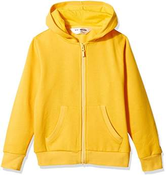 Kid Nation Kids' Soft Brushed Fleece Zip-Up Hooded Sweatshirt Hoodie for Boys or Girls XS