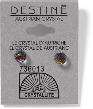 6ce691596 Crystallite Destine Vitrail Medium 6mm Faceted Ball Earring