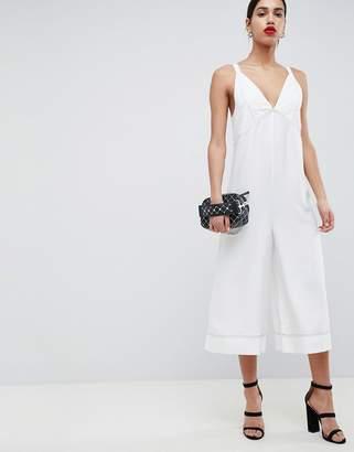 Asos Design DESIGN Cami Jumpsuit With Top Stitch Detail