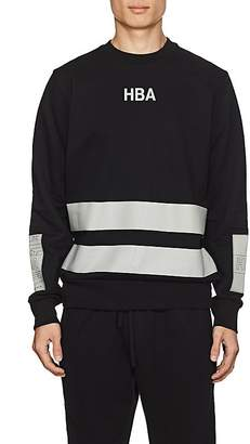 Hood by Air MEN'S LOGO STRIPED COTTON TERRY SWEATSHIRT