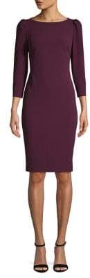 Calvin Klein Boatneck Knee-Length Sheath Dress