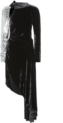 Monse Sequined velvet dress