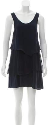 Alice + Olivia Silk Tiered Dress