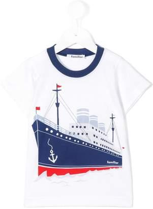 Familiar ship print T-shirt
