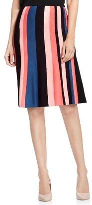 Women's Vince Camuto Multistripe Flare Skirt $69 thestylecure.com