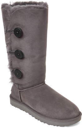 UGG Grey Bailey Button Triplet II Boots