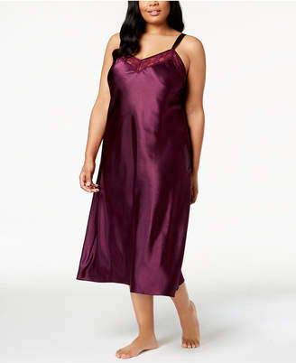 Thalia Sodi Plus Size Lace-Trimmed Nightgown, Created for Macy's