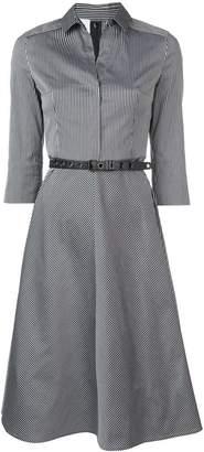 Akris Punto striped flared midi dress