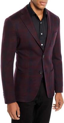 Etro Men's Checked Jersey Jacket