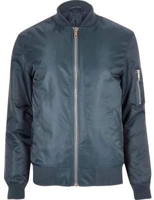 River Island Blue padded MA1 bomber jacket