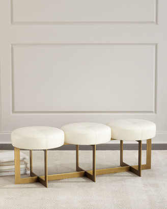 John-Richard Collection John Richard Collection Leather Button Bench