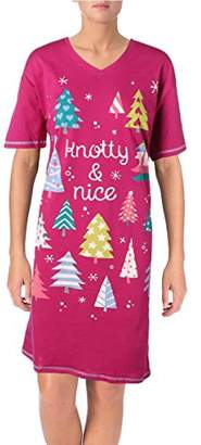 Hatley Little Blue House By Women's Holiday Sleepshirts