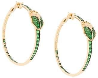 Aurelie Bidermann 18kt gold Scarab Couture tsavorite and diamond earrings