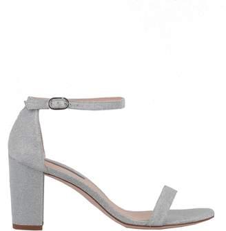 43ddfacfd49 Stuart Weitzman Silver Heel Strap Sandals For Women - ShopStyle UK