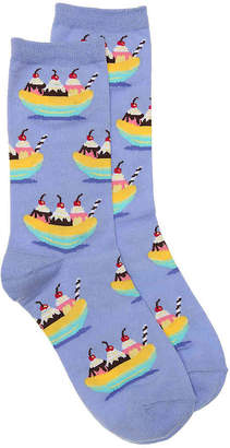 Hot Sox Banana Split Crew Socks - Women's