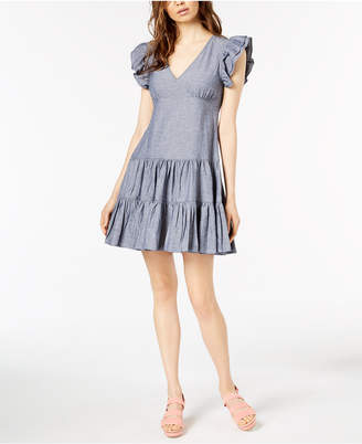 Jill Stuart Ruffled Denim Dress, Created for Macy's