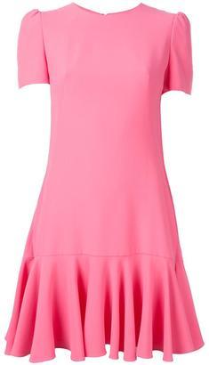 Alexander McQueen cape-back mini dress