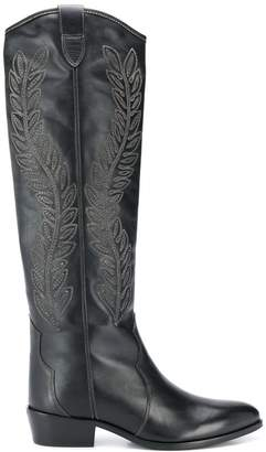 Twin-Set embroidered knee length boots