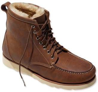 L.L. Bean L.L.Bean Signature Country Walker, Shearling-Lined Oxford Shoes