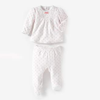La Redoute Collections Velour Pyjamas, Birth - 3 Years