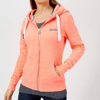 Superdry Women's Orange Label Primary Zip Hoody