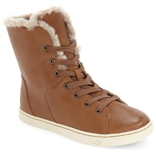 UGG ® 'Croft Luxe' Genuine Shearling High Top Sneaker (Women) $149.95 thestylecure.com