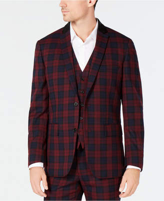 INC International Concepts Inc Men's Slim-Fit Tartan Blazer, Created for Macy's