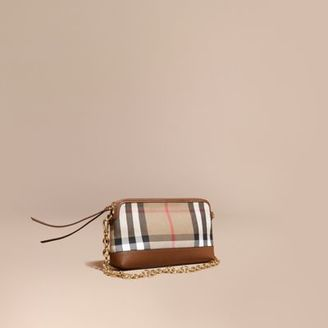 Burberry House Check and Leather Clutch Bag $1,095 thestylecure.com