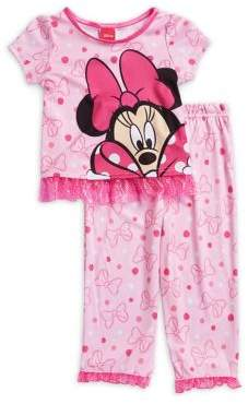 AME Sleepwear Little GIrl's Minnie Loves Dot Pajama Two-Piece Set